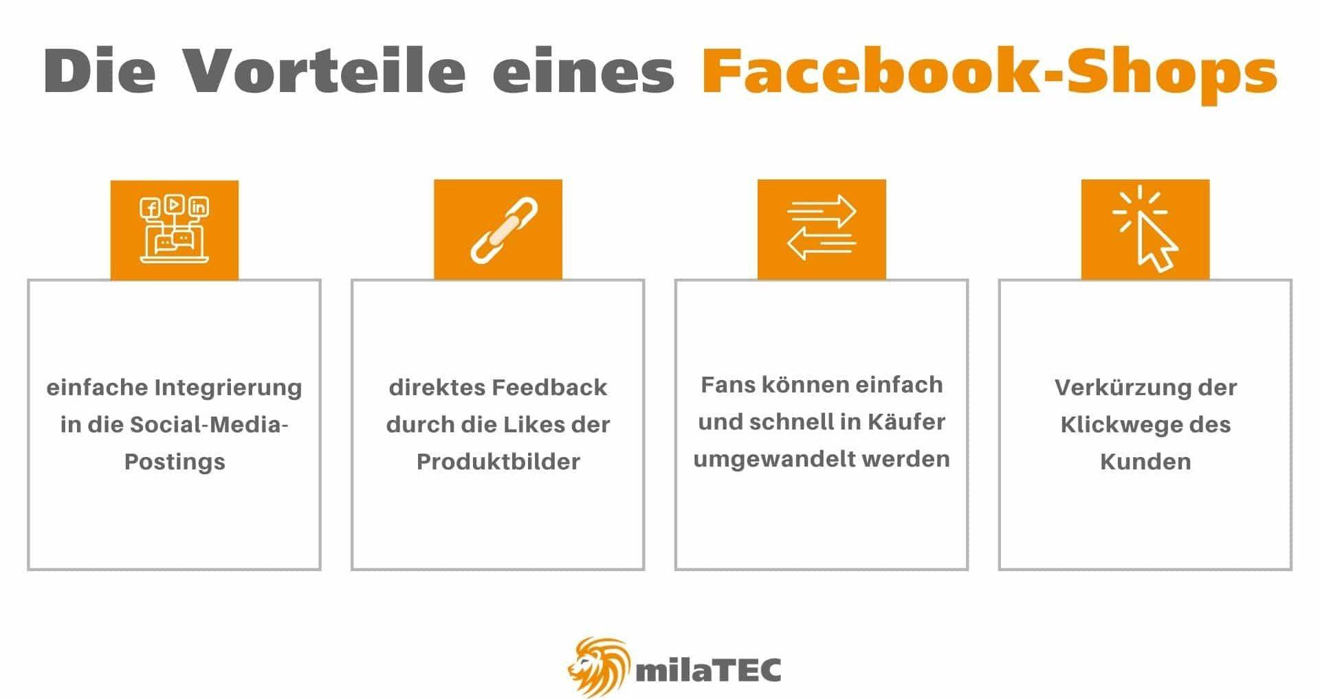 Facebook-Shop Vorteile