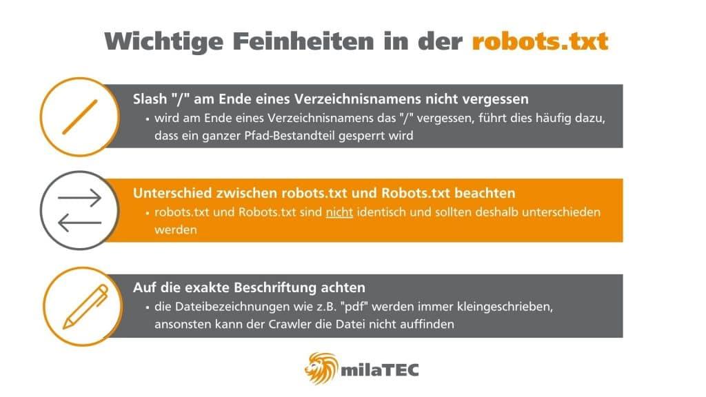 robots.txt Feinheiten